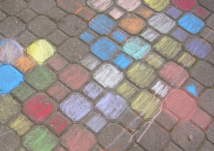 Seen objects a photoblog pavement chalk art - Dessiner une marelle ...