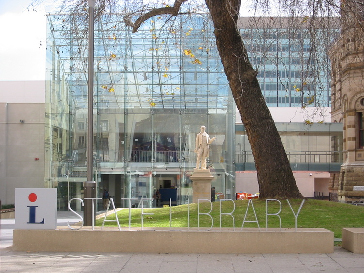 Glass State Library entrance