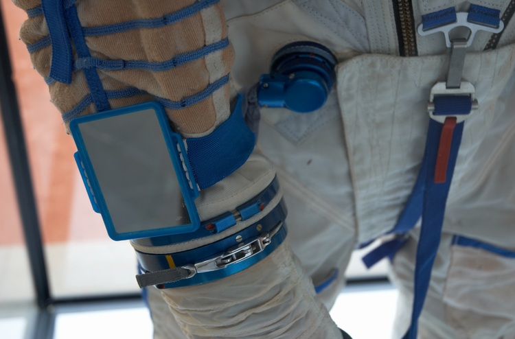 The wrist of a spacesuit