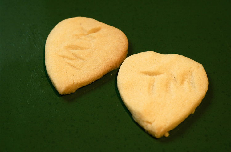 Heart-shaped fork biscuits
